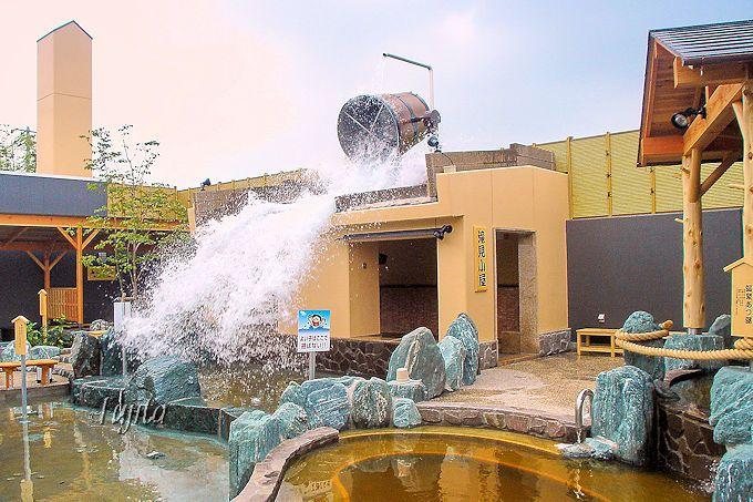 バケツがひっくり返る「ざぶーんの湯」!小江戸はつかり温泉