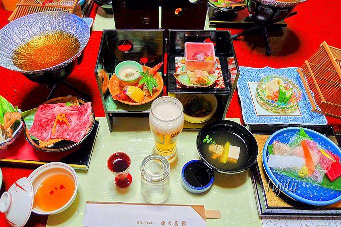 湯之島館は料理の素晴らしさでも知られています!