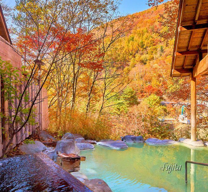 紅葉館なら緑白濁と黒色2種類の温泉を堪能出来る!