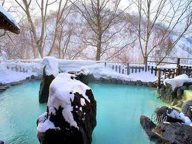 新緑も紅葉も最高!八幡平・松川温泉「峡雲荘」の雪見露天風呂