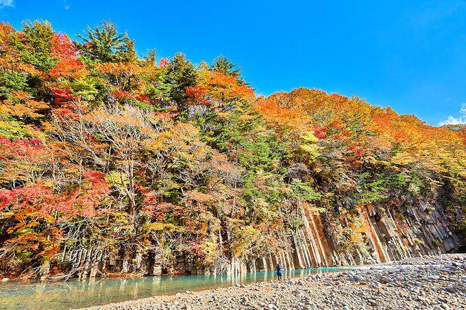 松川渓谷の紅葉第1位!松川玄武岩で絶景の紅葉狩り