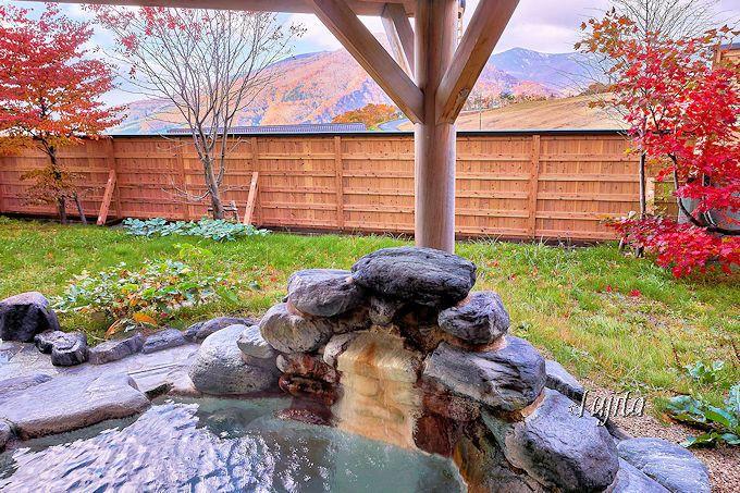 休暇村岩手網張温泉の紅葉露天風呂