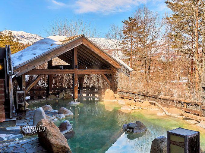 雪見露天風呂も楽しめる!大充実の温泉