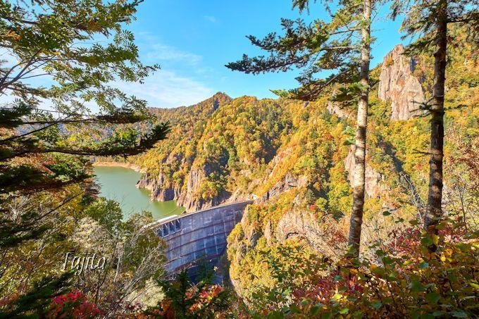 見晴し展望台の紅葉は豊平峡の穴場!第3位