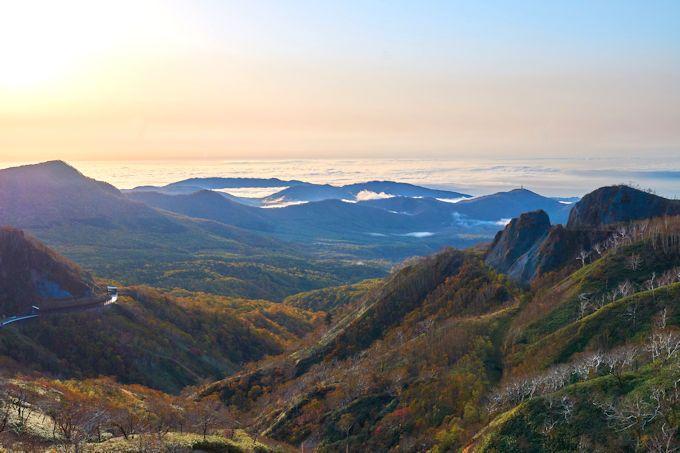 オロフレ峠の紅葉と2つの大雲海!