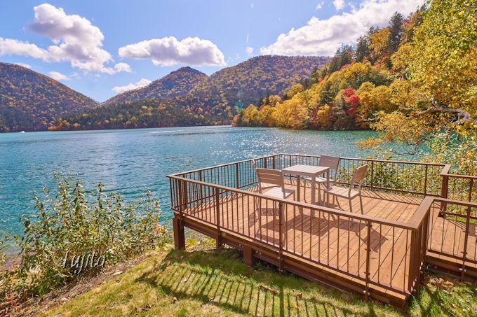 然別湖・湖畔園地の紅葉が美しい!