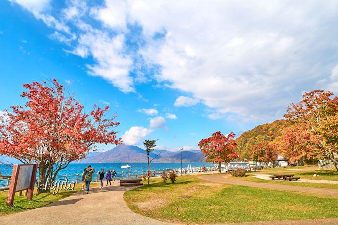 支笏湖温泉湖畔園地の紅葉