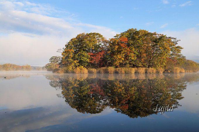 大沼公園の紅葉は水鏡が絶景!第2位