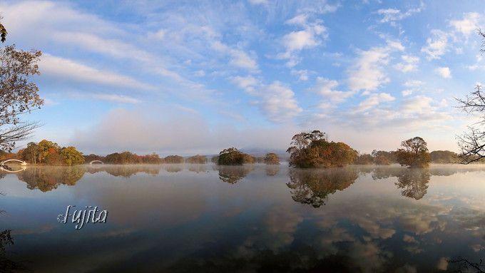 大沼公園の紅葉は水鏡が絶景!第1位