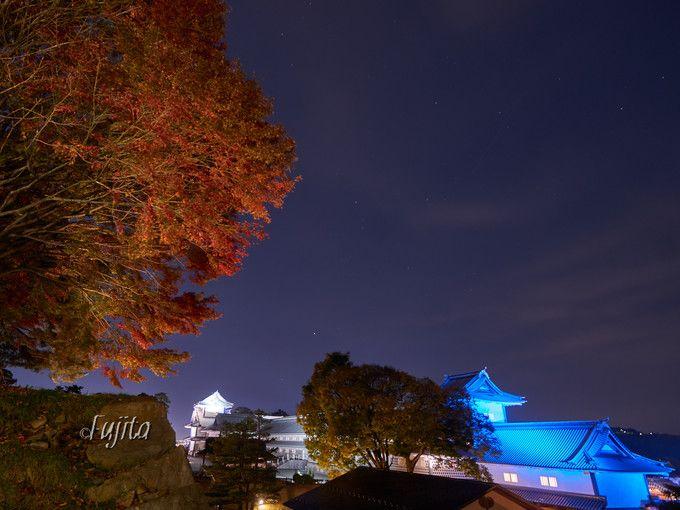 金沢城公園の本丸紅葉ライトアップ!