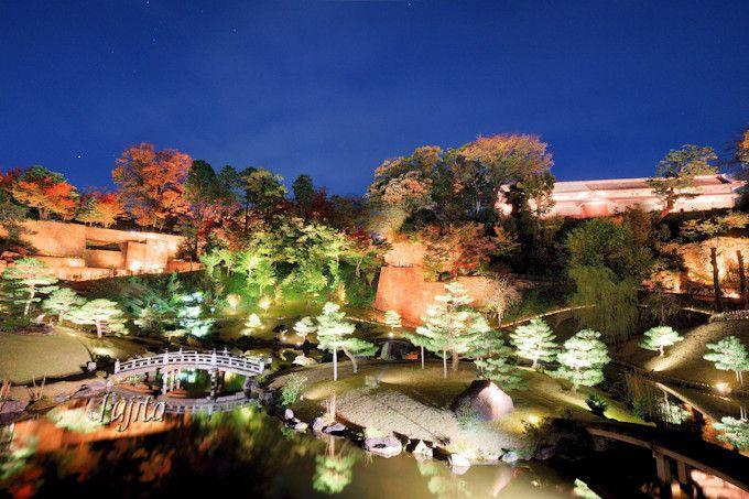 玉泉院丸庭園の紅葉ライトアップも必見!