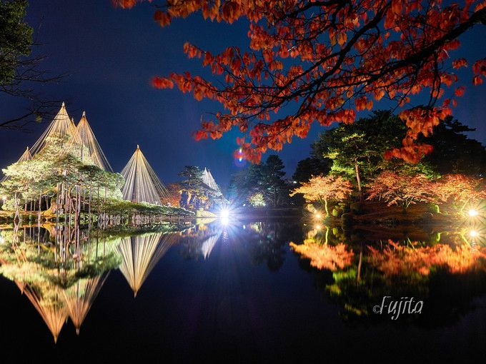 兼六園の紅葉ライトアップは入園無料!金沢城公園も同時開催