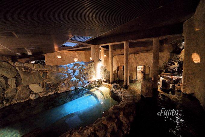 洞窟風呂以上に貸切露天風呂が印象的!