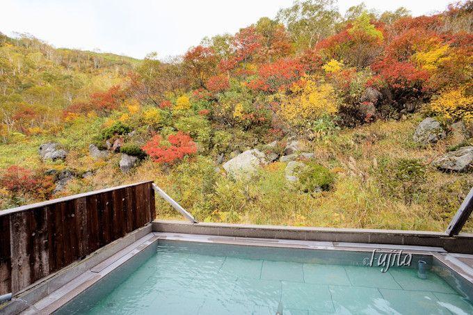 2つの紅葉露天風呂を完備!大浴場と「からまつの湯」