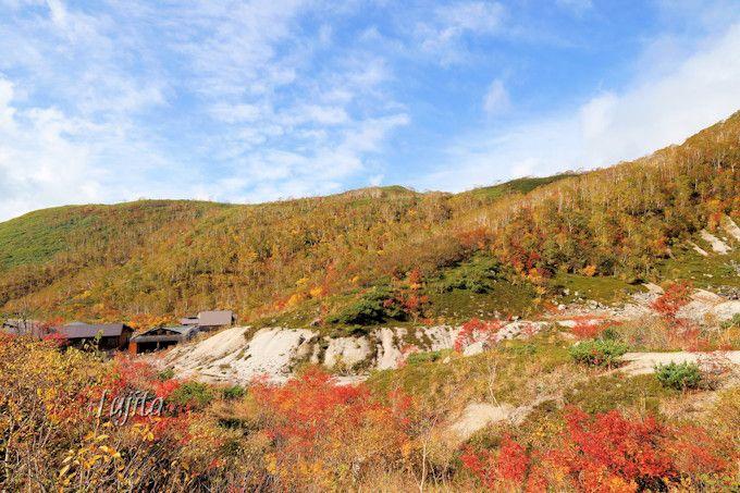 ニセコ五色温泉から紅葉のアンヌプリを一望!