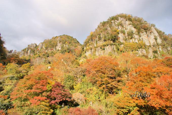 耶馬渓の紅葉を代表!深耶馬渓「一目八景」