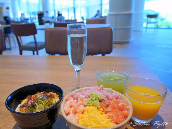 握り寿司が絶品!朝食のスパークリングワインも無料