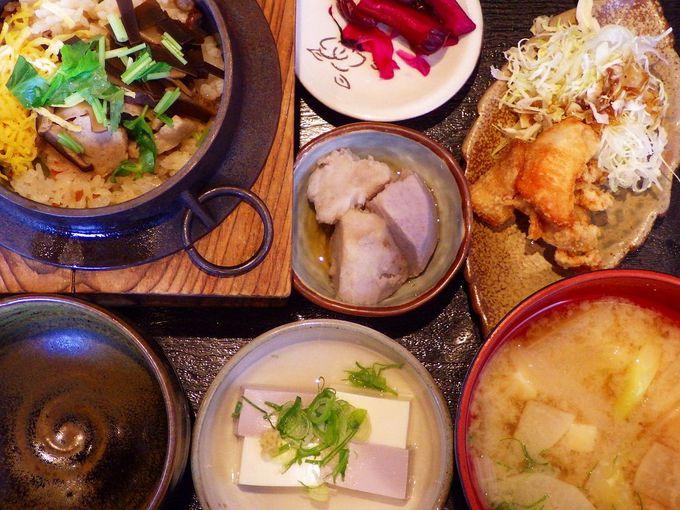 お腹がすいたら、レストラン「獅子銀」で地元の食材を味わおう!