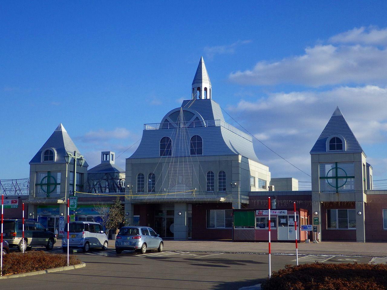 城のような外観の道の駅「メルヘンの丘めまんべつ」