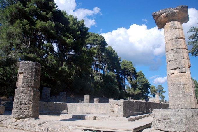 今もヘラの神殿で行われる採火の儀式