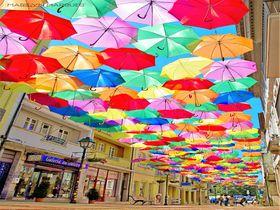 町中がカラフルな傘で彩られる!ポルトガルの小さな町アゲダへ