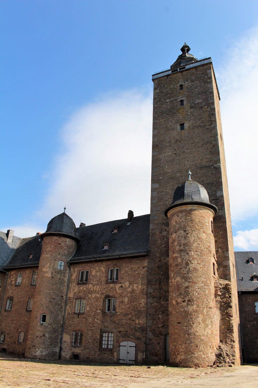 グリム関連の博物館があるシュタイナウ城