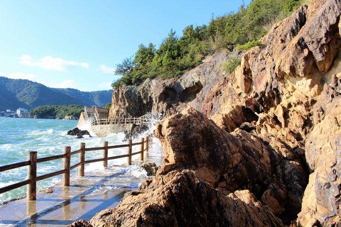 """""""幸せをもたらす""""という日本唯一の五色岩"""
