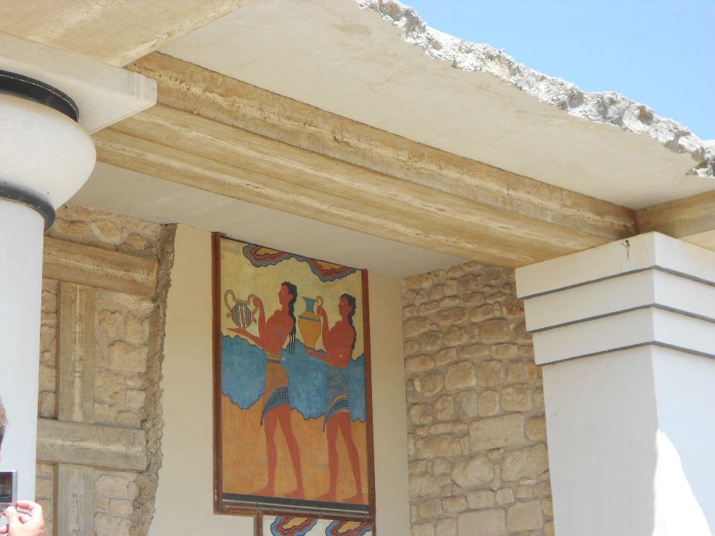 ヨーロッパ遺産のクノッソス宮殿
