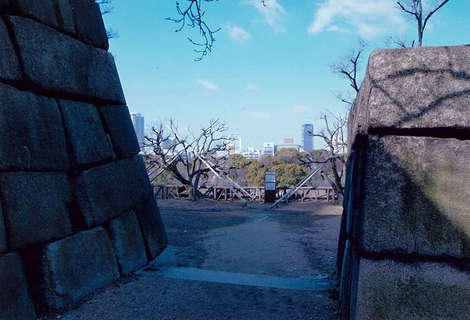 本丸北側を守る「山里曲輪」と「隠し曲輪」