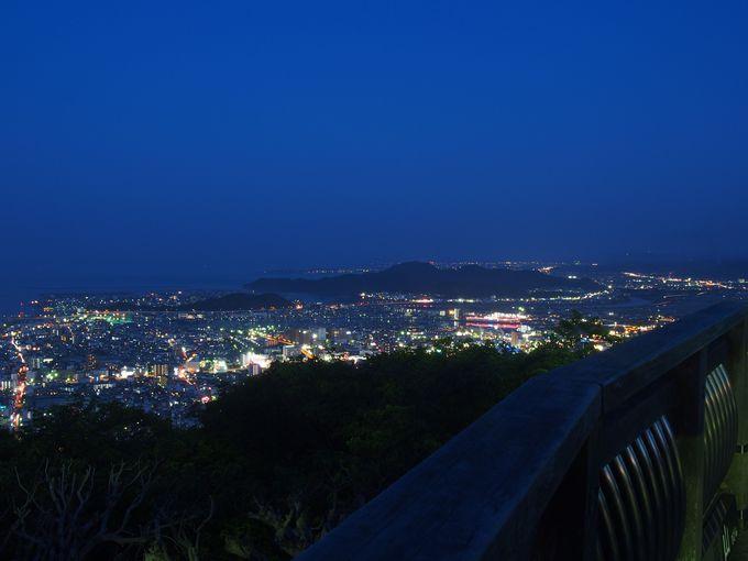 徳島平野の大パノラマも展望