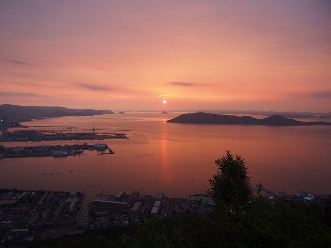 夕陽の景色です
