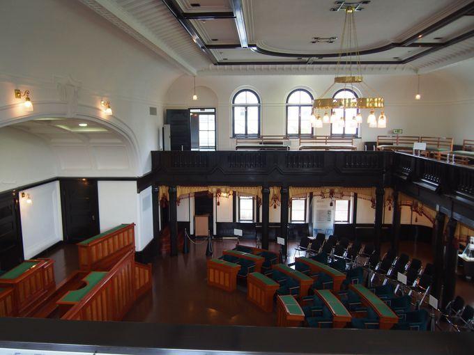 かつての議場「夢交流ホール」
