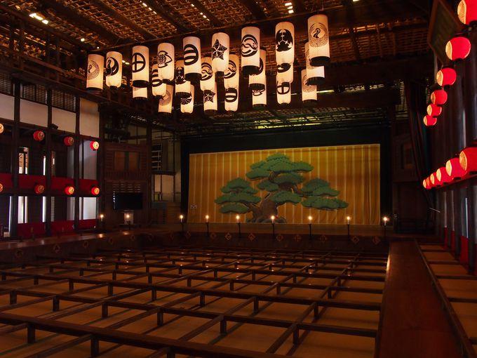 日本最古の芝居小屋は琴平にあり「旧金毘羅大芝居」