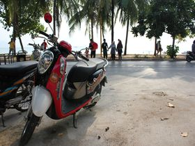 レンタルバイクで楽しみ倍増!タイのビーチリゾートクラビを気ままに走る!!