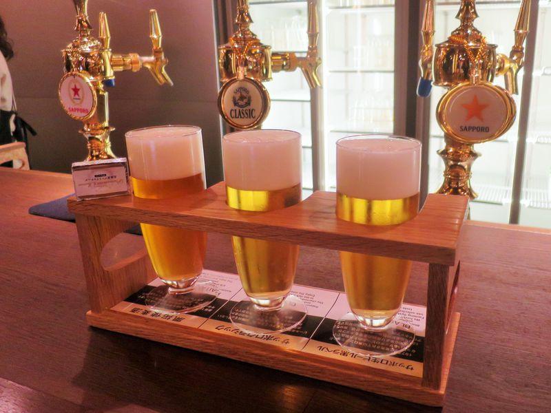 三種のビールを飲み比べ!サッポロビール博物館で歴史と試飲を楽しむ