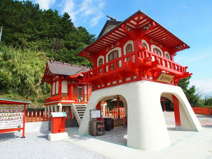 龍宮城をモチーフとして作られた神社