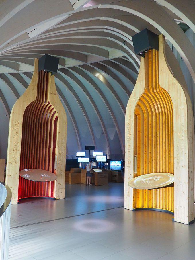 美しいデザインの館内をくまなく見ながら、五感をフルに使ってみて!
