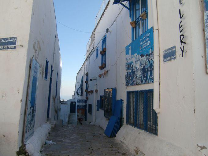 青と白の町「シディ・ブ・サイド」