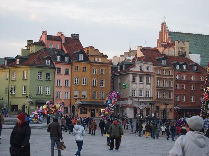 「世界遺産」ワルシャワの街