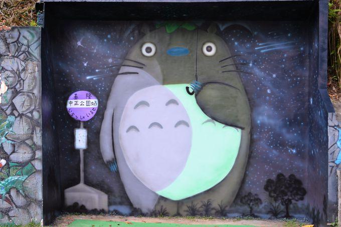 台湾でバス待ちトトロ!
