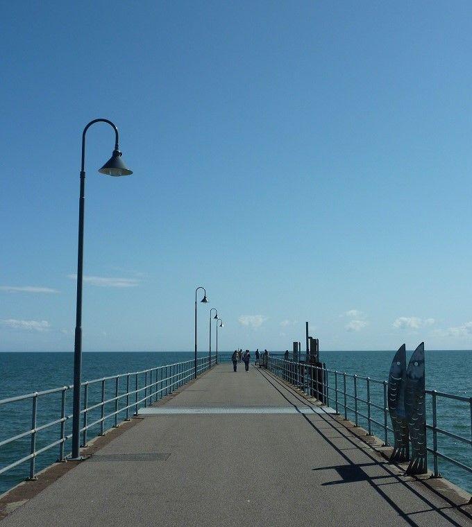 イルカに会えるかも?海へつづく桟橋