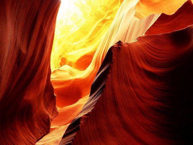 光の洞窟・アンテロープキャニオンに感動