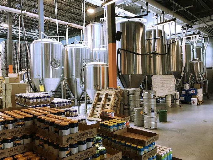 摩天楼を望むビール天国「バッファローバイユー醸造所」