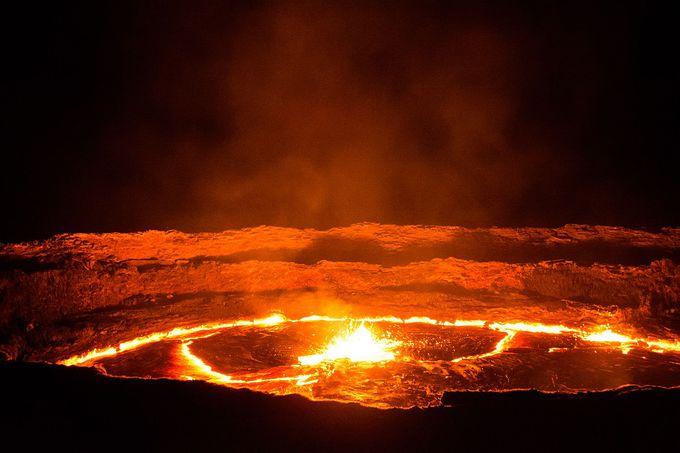 地球上でここでしか見れない絶景!エルタ・アレ火山!
