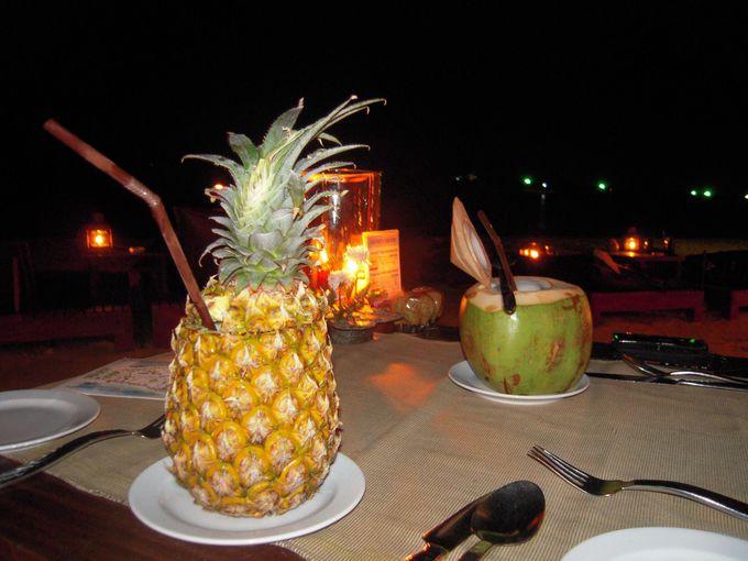 星空のビーチ・ディナー
