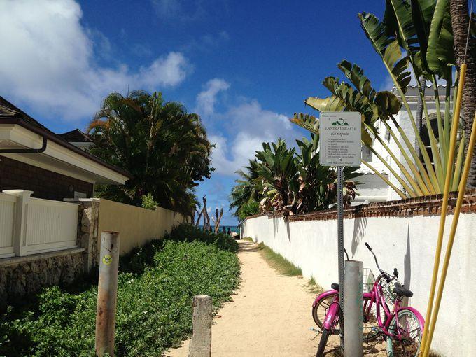 ラニカイ・ビーチへのアクセス