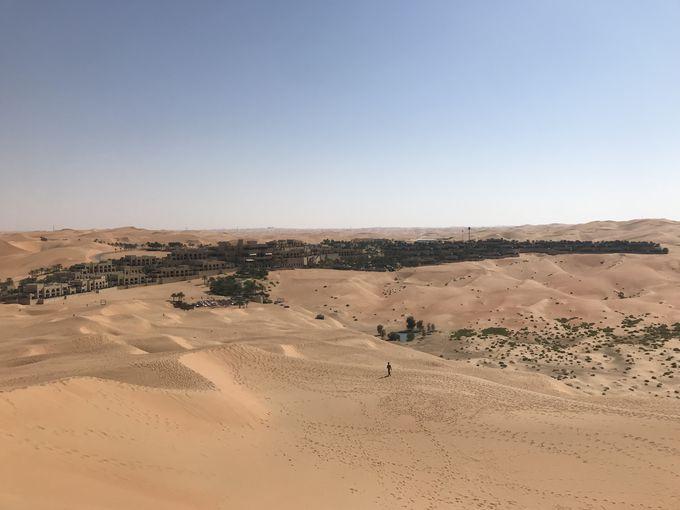 砂漠のど真ん中にある世界屈指のリゾート