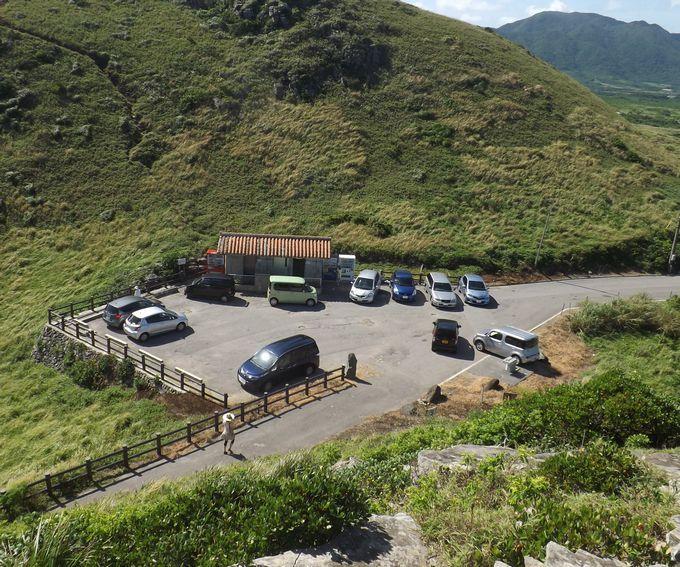 無料駐車場、公衆トイレ、自動販売機もあります。