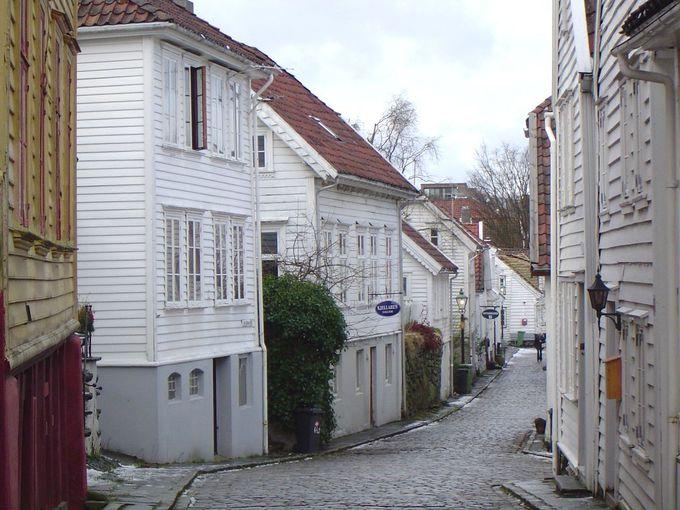 真っ白で統一される旧市街