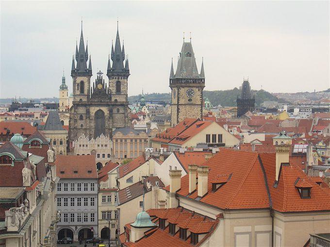 最高としか言いようがない天文塔からのプラハの眺め